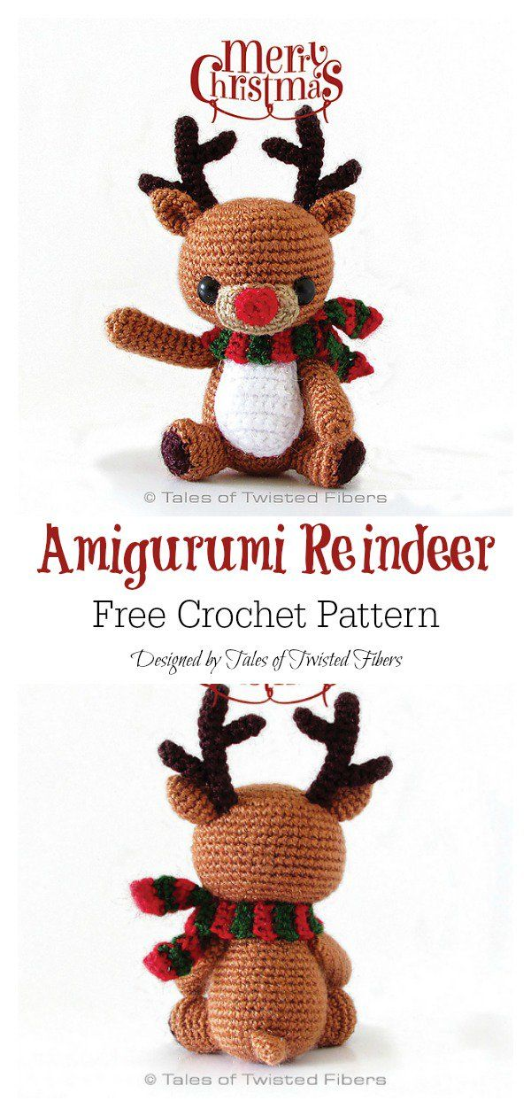Amigurumi Christmas Reindeer Free Crochet Pattern | Navidad ...