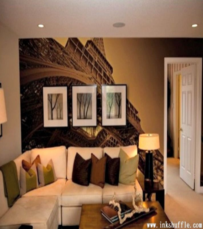 Dress up your living room wall with a mural featuring the famous #Paris and the breathtaking view of #EiffelTower in this romantic city.