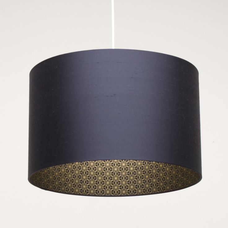 Accessories Insiring Home Accessory Design Of Pendant Lamp With Dark Blue Drum Shade