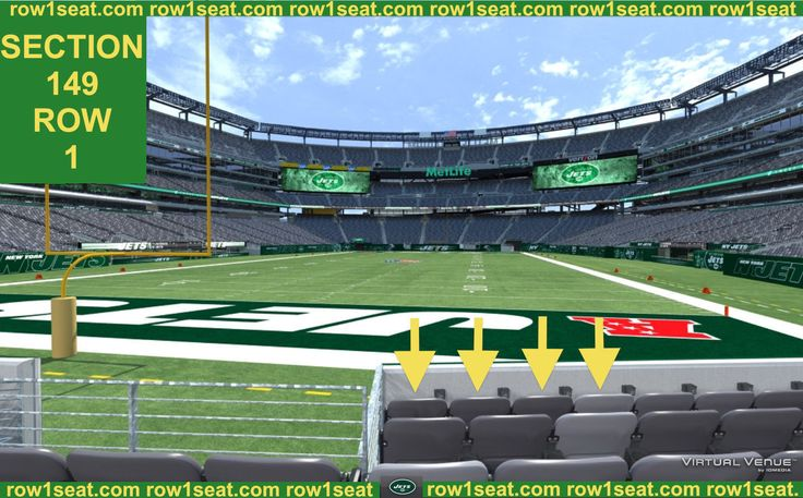 #tickets 4 Front row Carolina Panthers at New York Jets tickets section 149 row 1 please retweet