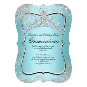 Find all the tips right here for designing your ultimate Winter Wonderland theme! Decorations, invitations, dresses and more