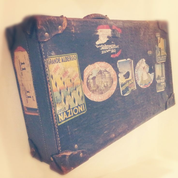 original suitcase in the hall @ hotel luise