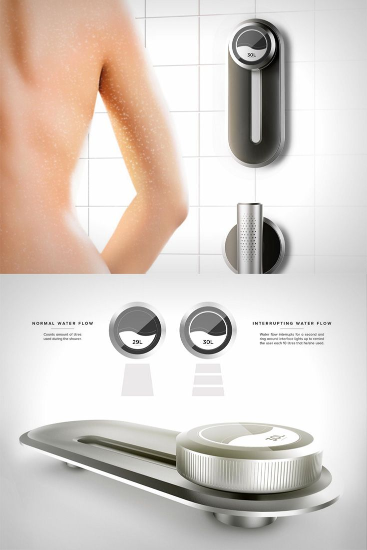 The 'Eco-pulse' is a shower controller that tells you exactly how much of water you're consuming while bathing... READ MORE at Yanko Design !