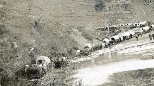 Gedenken an die Mormonenpioniere, die auf der Flucht vor religiöser Verfolgung von Illinois aus durch Iowa und Nebraska zogen und am 24. Juli 1847 im Salzseetal ankamen.
