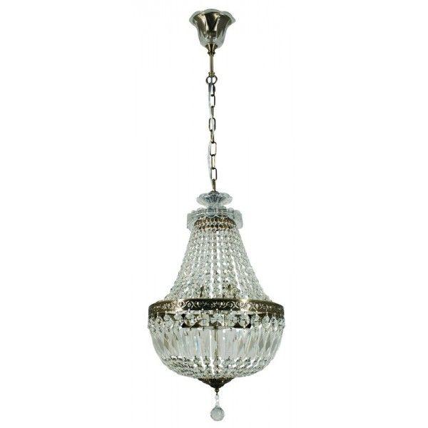 Antique Brass Chandelier Pendant Lighting - Le Pavillon 3 Light