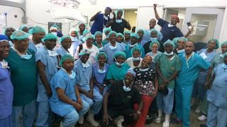 Photos: Team of 50 Kenyan doctors successfully separate conjoined twins   Whatsapp / Call 2349034421467 or 2348063807769 For Lovablevibes Music Promotion   Doctors at the Kenyatta Hospital on Wednesday morning November 3rd successfully separated conjoined twins in the first ever surgery of its kind on the continent. A team of 50 medical specialists separated the twin girls Favour and Blessing whose lower backs were fused in an operation that took 23 hours and concluded at 5am on Wednesday…