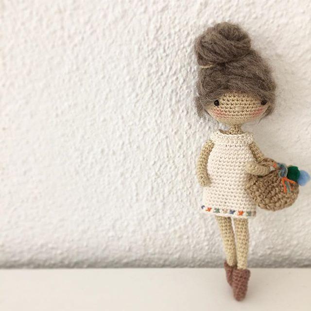 Mini Lulu is finished now. Added a little embroidery on her dress and put on her favorite booties. lovely pattern by @crochet_garage . . . #crochet #häkeln #haekle #virka #crocheting #crochetdoll #amigurumi #giftforkids #geschenkideen #geschenkefürkinder #handmadetoy #handmade #handmadedoll #doll #girl #crochetersofinstagram #crochetgirlgang