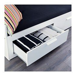 BRIMNES Day-bed frame with 2 drawers - IKEA