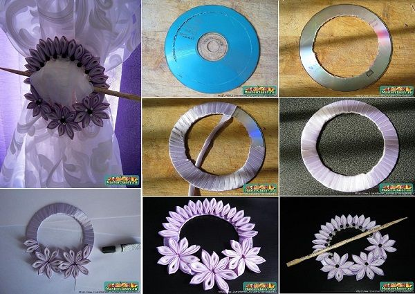 how to make ribbon flowers at home