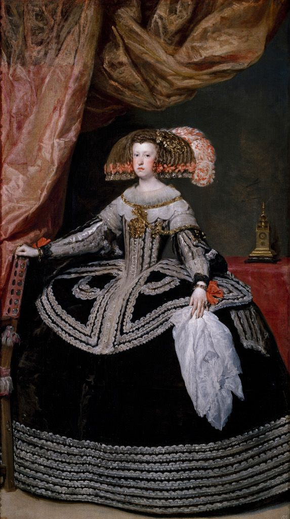 Museo Nacional del Prado: Por qué Velázquez- The Queen Marina de Austria by Diego Velázquez,1652 Madrid.