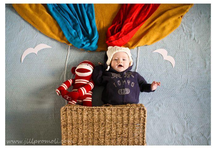 Fun creative baby photography