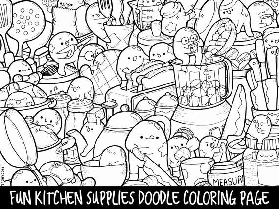 Doodle Coloring Books Beautiful Kitchen Supplies Doodle Coloring Page Printable Doodle Coloring Books Beautifu Coloring Pages Doodle Coloring Coloring Books