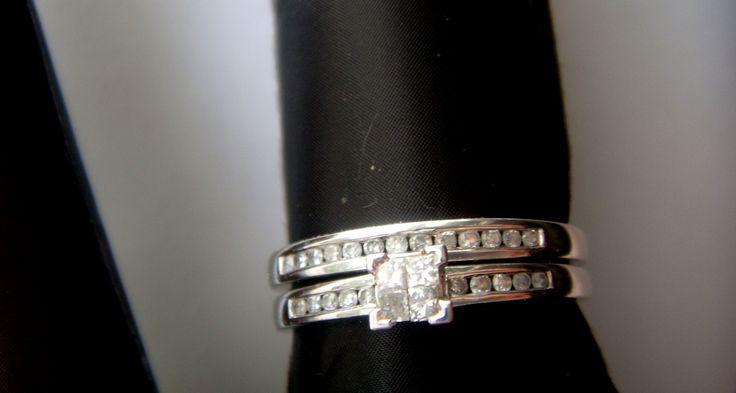 Кольцо парное белое золото бриллианты 0,25