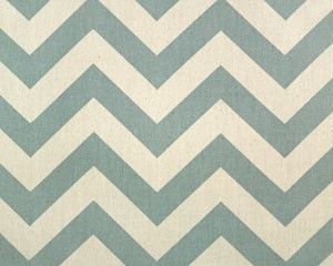 Blue and Natural Chevron