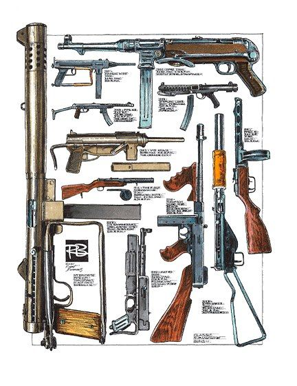 Robert Burrows - Classic Submachine Guns