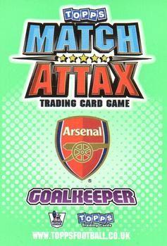 2010-11 Topps Premier League Match Attax #1 Manuel Almunia Back