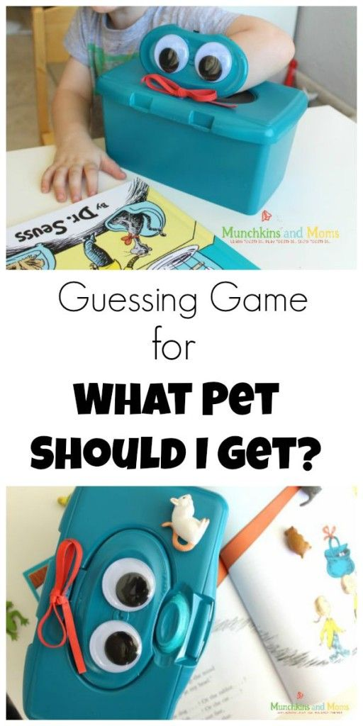 """Fun guessing game for the new Dr. Seuss book """"What Pet Should I Get?"""""""