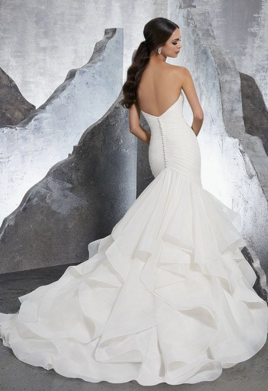 Courtesy of Morilee Wedding Dresses By Madeline Gardner Blu Collection; Wedding dress idea.