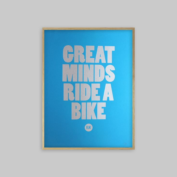 A stunning hand pulled screen print in Silver. Special edition, on 290gsm Fedrigoni Blue paper and printed using metallic ink. A3 in size, designed to fit Ikea Ribba frames beautifully. A Must for the  cyclist.