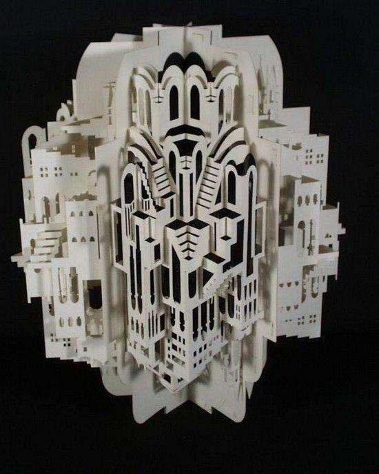 Amazing kirigami architecture