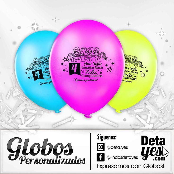 Globos Personalizados para Fiesta de Cumpleaños, Little Pony,  Somos @deta_yes  , Envíos a Toda Colombia, Pedidos 31856657519
