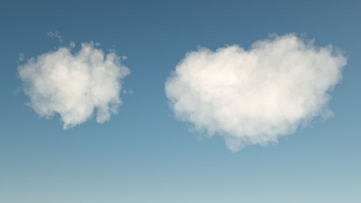Volumetric Clouds with Cinema 4D and Octane. Volumes from Houdini.