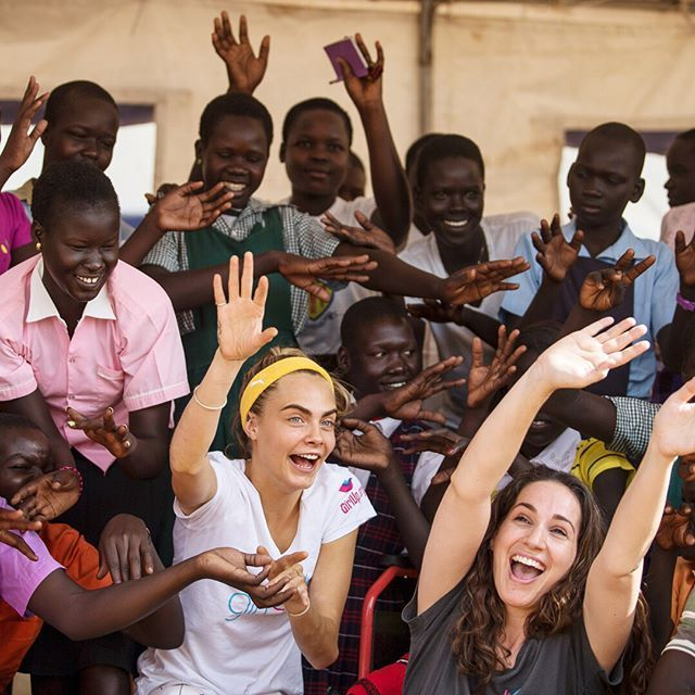 Activist model and actress @caradelevingne is teaming up with @girlupcampaign to raise money for adolescent girls in Uganda. You cant fathom what the statistics mean until youre there and meet some of the [900000-plus] refugees fleeing devastation and violence she says in an essay in our August issue. The people Ive met have gone through hell and back yet they still have smiles on their faces. The only thing these girls ask for is an education. You can get involved in @caradelevingne's cause…