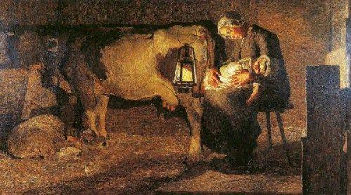 Giovanni Segantini (1858 – 1899, Italian)  Le due madri