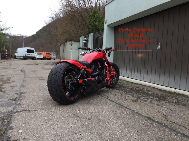 Harley Davidson VRSCDX V-Rod Night Rod Custom AirRide 260er Reifen Porsc...