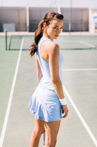 White tennis dress costume.