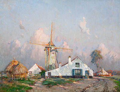 Windmill in landscape - Emmanuel Vierin | Studio 2000