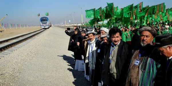 Turkmenistan opens first rail link with Afghanistan