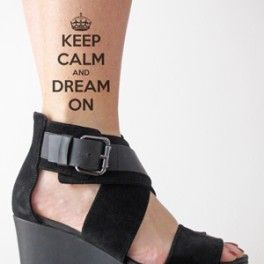 Keep Calm tattoo