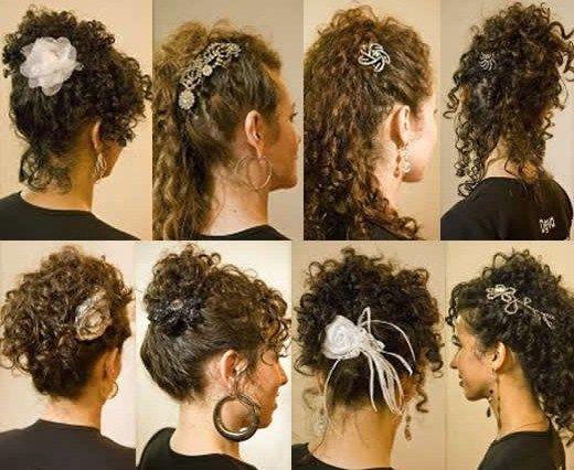 Penteados p/cabelos curtos e cacheados: