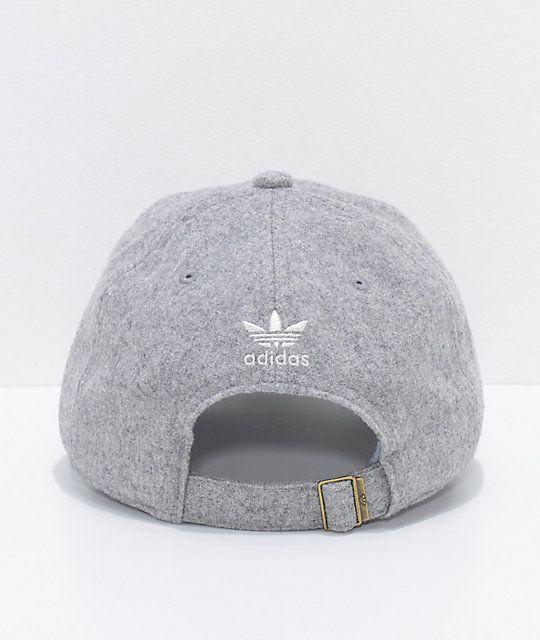 67de39373c039 adidas Relaxed Grey Wool Dad Hat
