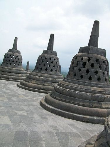 clean & exposed, Borobudur post Merapi eruption 2009
