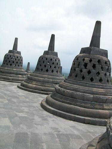 clean & exposed, Borobudur post Merapi eruption 2009