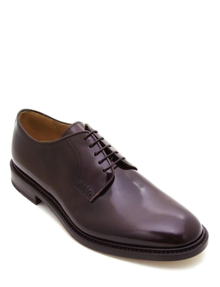 #Laceup #shoe in brushed coffee calfskin leather. Featuring plain uppers and leather sole. The refined intense coffee colour and the rounded #shape, becomes a symbol of sophisticated timeless style. Its authentic character with derby lacing #style makes it ideal for less formal occasions.