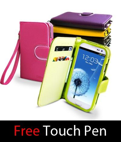 $15.90 Samsung Galaxy S3 3 III i9300 T999 I747 Solozen Fera Diary Wallet Case | eBay