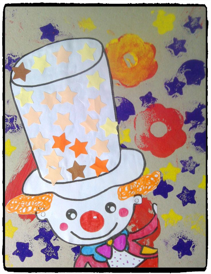 tableau clown, carnaval, mardi gras, bricolage enfant