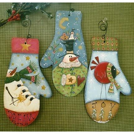 The Decorative Painting Store: Mitten Ornaments DOWNLOAD, Newly Added Pattern Packets