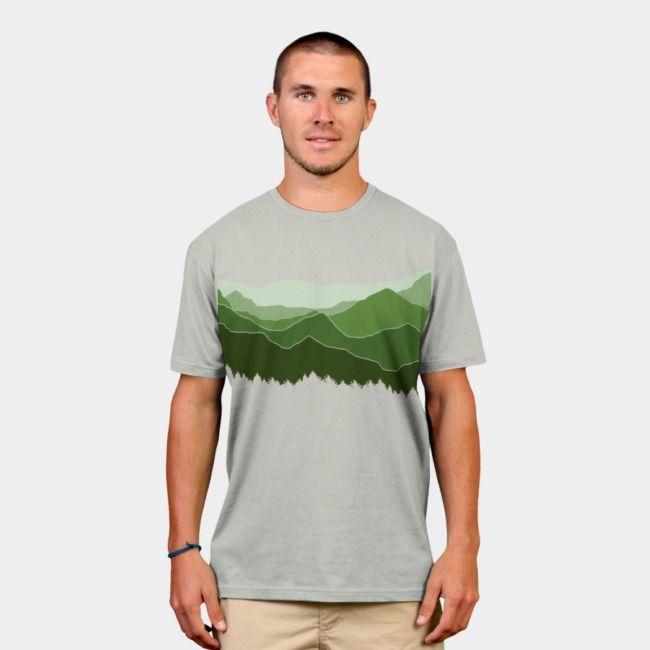The Horizon. #horizon #designbyhumans #nature #green #mountains #ecofriendly #landscape #tshirt #tshirtdesign #teeshirt #apparel #menswear