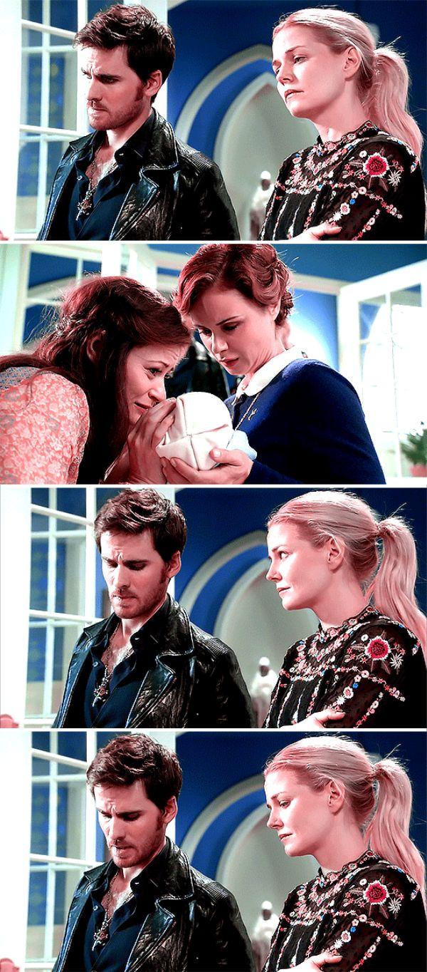 "Belle, Gideon, Blue, Emma and Killian - 6 * 9 ""Changlings"" #CaptainSwan"