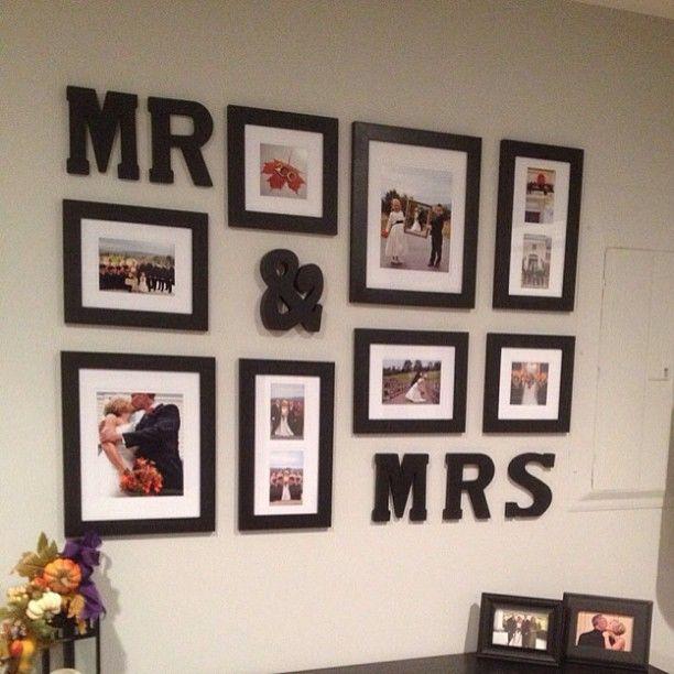fun photo wall
