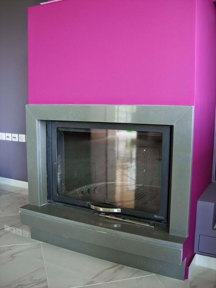 Hanstone Quartz Graphite fireplace