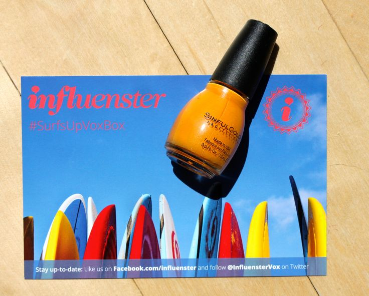 Sinful Colors- Anchors Away. If you can't wear bright orange nail polish in the summer, when can you?! #Influenster #SurfsUpVoxBox