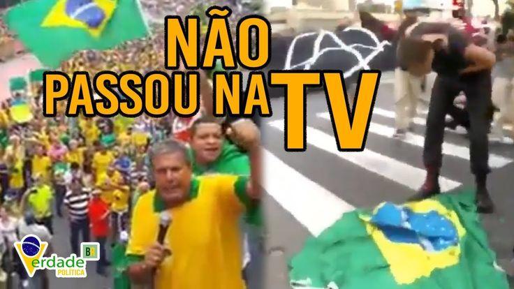 Veja os protestos que não foram mostrados na TELEVISÃO
