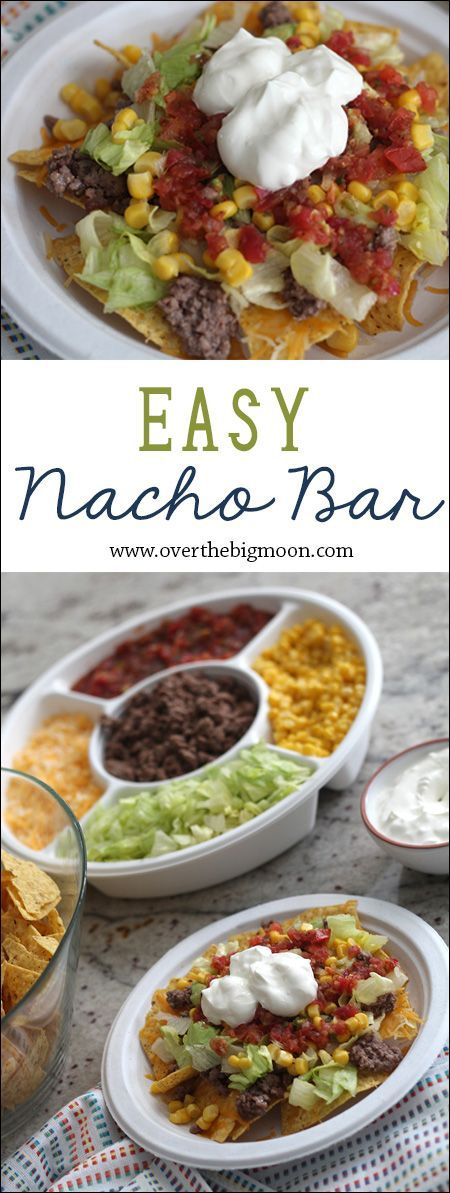Easy Nacho Bar- this is the perfect lunch for a small group or workplace! Plus, it's easy to prep ahead of time!