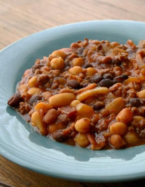only do I love baked beans, but I also love anything in a crock pot ...