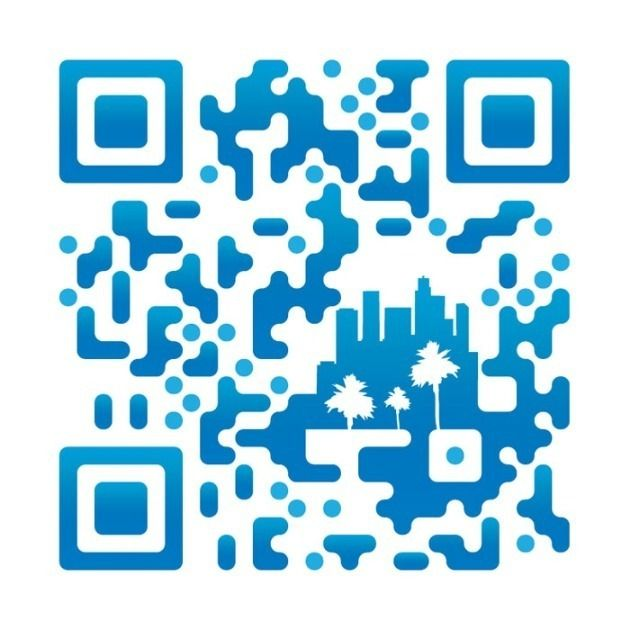 Blue QR Code Image with trees www.MobileSiteDesigns.org #SmartphoneMarketing #MobileApps #QRcodes #MobileOptimisedWesbites #MobileOptimizedWebsites
